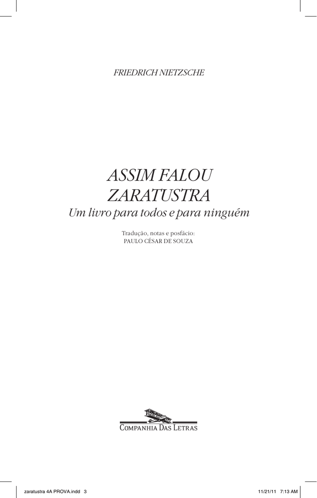 ZARATUSTRA BAIXAR ASSIM FALAVA