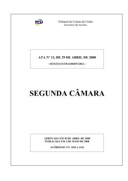 13 - Tribunal de Contas da União