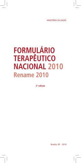 Formulário terapêutico nacional 2010
