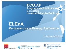O Programa ELEnA para a região de Lisboa e Vale do Tejo