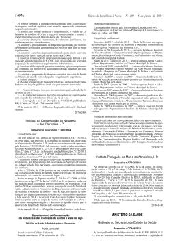 14976 MINISTÉRIO DA SAÚDE - Instituto Português do Mar e da