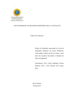 USO DO BIODIESEL EM MOTORES MARÍTIMOS - PRH-37