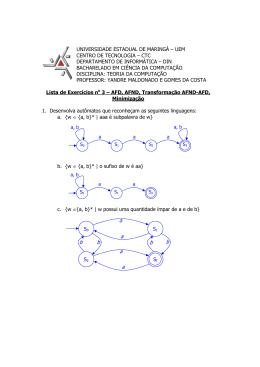 Lista de Exercícios 3 resolvida - ao Departamento de Informática