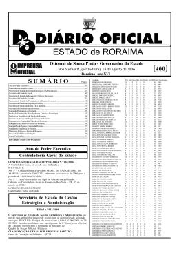 Sem título-1.pmd - Imprensa Oficial do Estado de Roraima