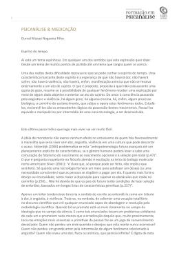 PSICANÁLISE & MEDICAÇÃO - Instituto Sedes Sapientiae