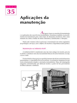 35. Aplicações da manutenção