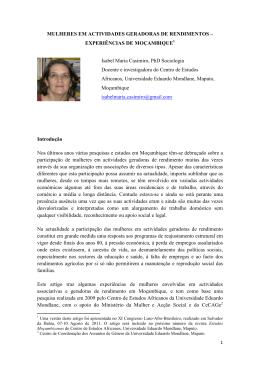 Artigo de Isabel Maria Casimiro - CISA