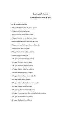 Classificação Preliminar Edital 14/2015 pdf