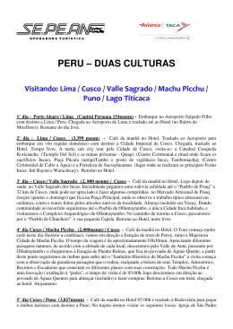 PERU – DUAS CULTURAS
