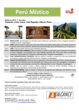 Perú Místico - Alcance Viagens