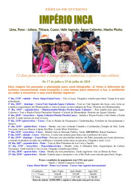 Turismo Império Inca