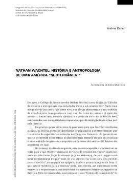 NATHAN WACHTEL - Revista Sociologia & Antropologia