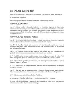 LEI nº 5 - Conselho Federal de Psicologia