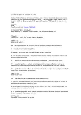 Lei - Comitê de Bacia da Região Hidrográfica da Baia de Guanabara