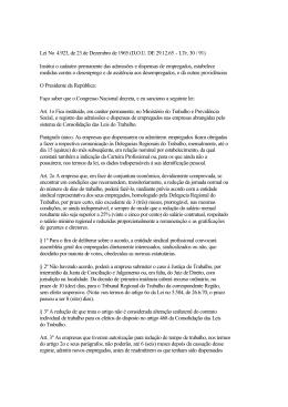 Lei No 4.923, de 23 de Dezembro de 1965 (D.O.U. DE