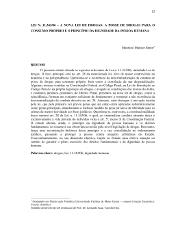 12 LEI N. 11.343/06 – A NOVA LEI DE DROGAS: A POSSE DE