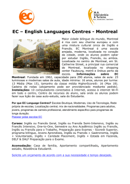 EC – English Languages Centres - Montreal