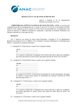 RESOLUÇÃO Nº 276, DE 18 DE JUNHO DE 2013. Aprova a