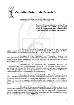 resolução nº 576 - Conselho Federal de Farmácia