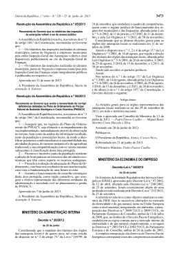 Decreto n.º 20/2013