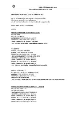 Segunda-feira, 24 de junho de 2013 RESOLUÇÃO - RE