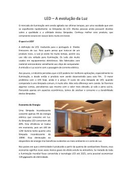 LED – A evolução da Luz