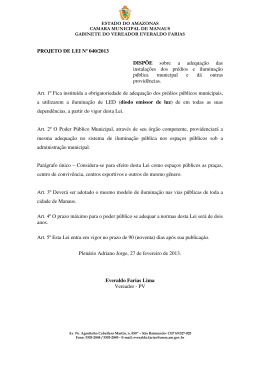 40/13 - Câmara Municipal de Manaus