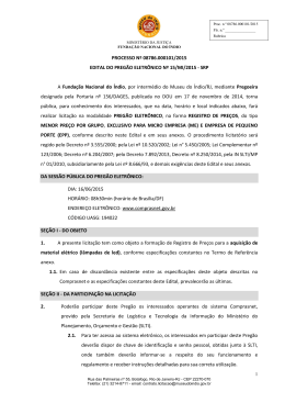 PROCESSO Nº 08786.000101/2015 EDITAL DO PREGÃO