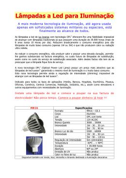 Lâmpada a Led OPL2 - Folheto