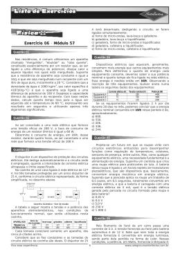 LE 3ºAno_Apostila 01 - Física II - Módulo 57 (Exercício