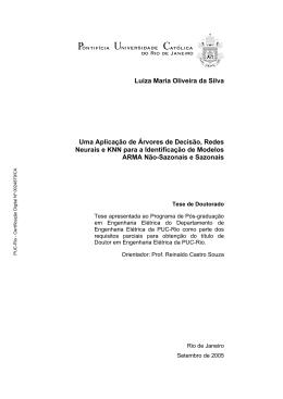 Luiza Maria Oliveira da Silva Uma Aplicação de Árvores de Decisão
