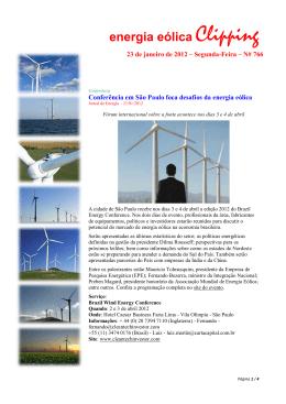 2012 Energía Eólica Janeiro