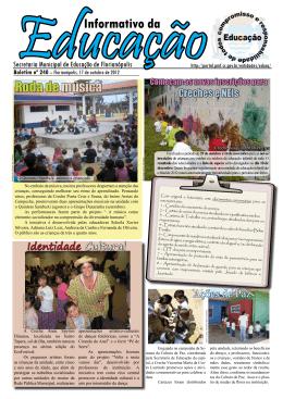 Informativo da Educação nº240 - Prefeitura Municipal de Florianópolis