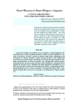 """A """"língua brasileira"""" vista por Monteiro Lobato"""