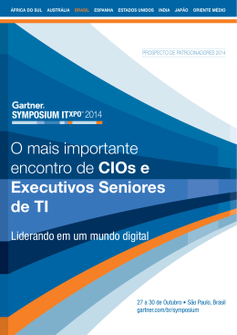 O mais importante encontro de CIOs e Executivos Seniores de TI