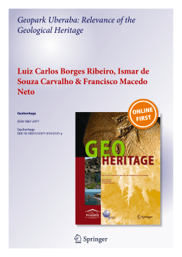 Geopark Uberaba: Relevance of the Geological Heritage