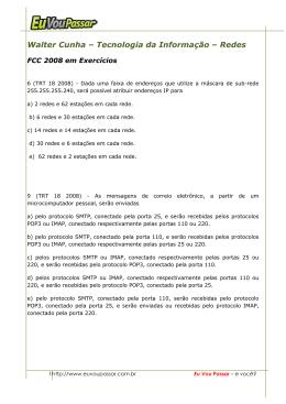 Walter Cunha – Tecnologia da Informação – Redes