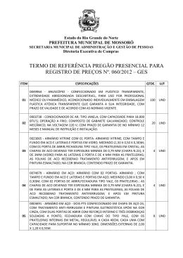 T.R. PREGÃO Nº 060 - 12 - GES - RP
