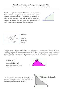 Ângulos, Triângulos e Trigonometria
