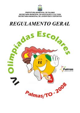 REGULAMENTO GERAL - Prefeitura de Palmas
