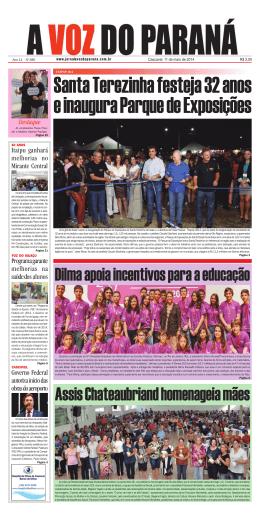 Edição no 580 - Jornal A Voz do Paraná