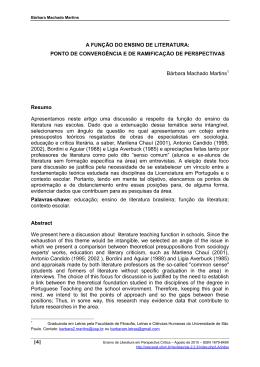 |4| A FUNÇÃO DO ENSINO DE LITERATURA: PONTO DE