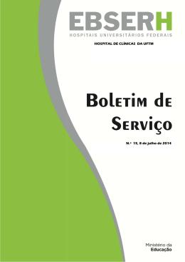 Boletim de Serviço n.º 15 - 8/7/2014