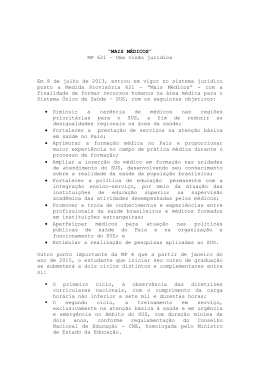 """""""MAIS MÉDICOS"""" MP 621 – Uma visão jurídica Em 8 de julho de"""