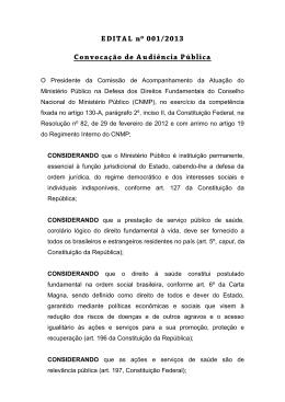 Edital - Conselho Nacional do Ministério Público