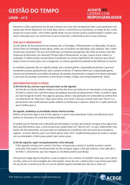 Nº5 Gestão de Tempo - Ver   Valores, Ética e Responsabilidade