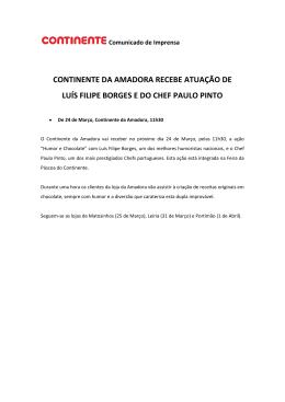 continente da amadora recebe atuação de luís filipe borges