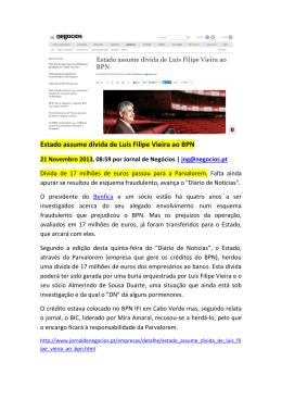Estado assume dívida de Luís Filipe Vieira ao BPN