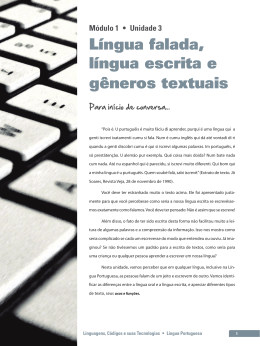 Língua falada, língua escrita e gêneros textuais
