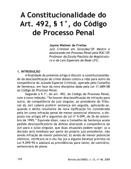 A Constitucionalidade do Art. 492, § 1°, do Código de